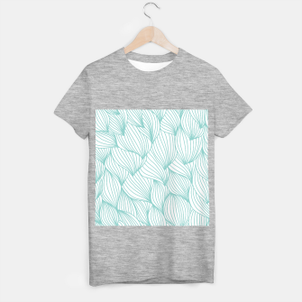 Miniature de image de Minimal Turquoise White Waves Delicate Natural Artist T-shirt regular, Live Heroes