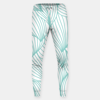 Thumbnail image of Minimal Turquoise White Waves Delicate Natural Artist Sweatpants, Live Heroes