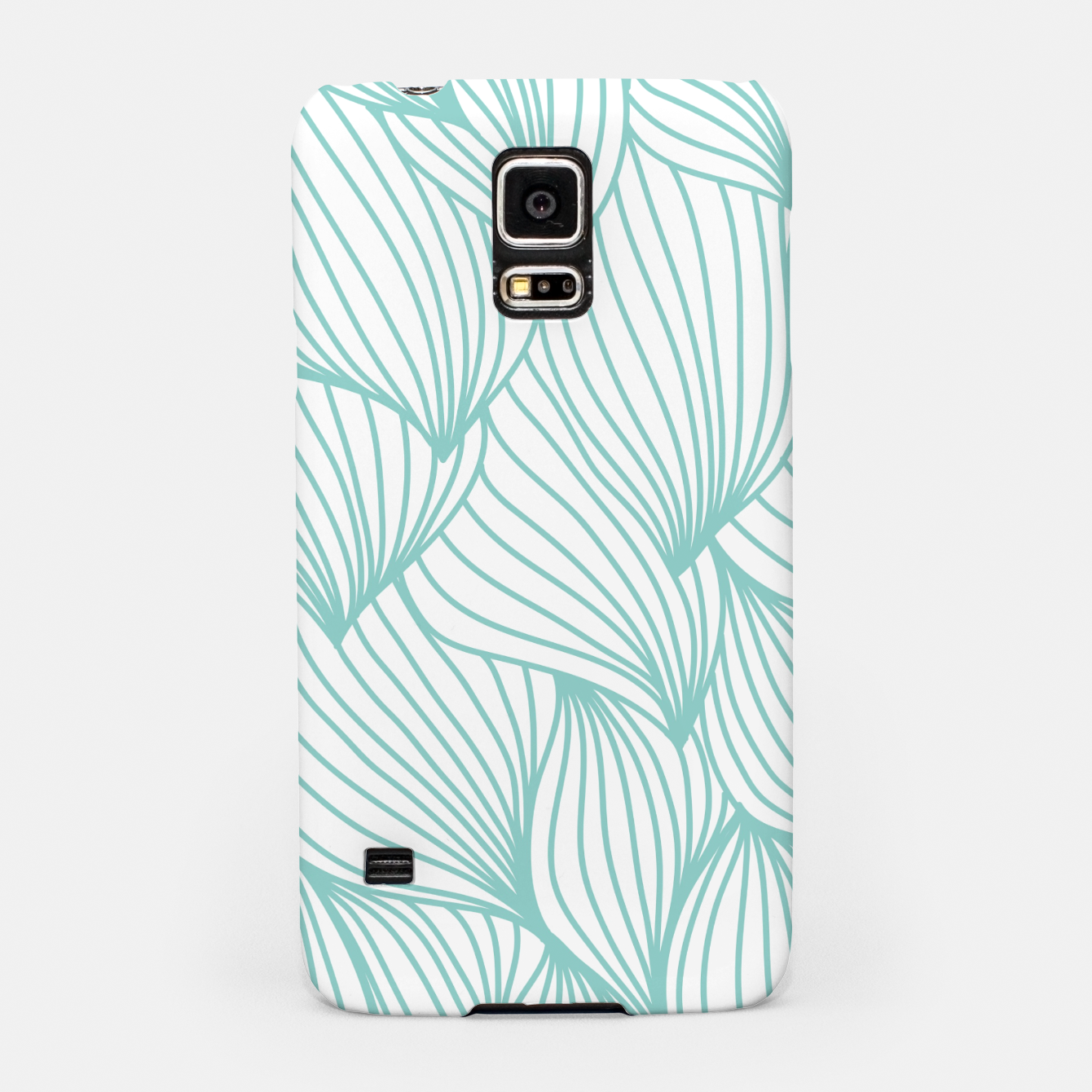 Foto Minimal Turquoise White Waves Delicate Natural Artist Samsung Case - Live Heroes