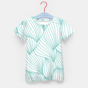 Thumbnail image of Minimal Turquoise White Waves Delicate Natural Artist Kid's t-shirt, Live Heroes