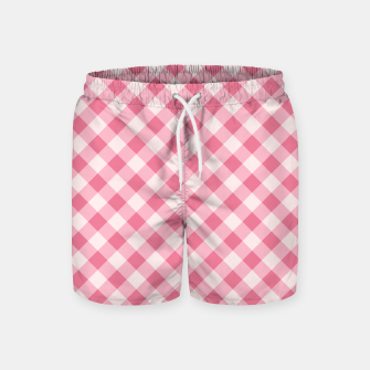 Thumbnail image of Girly Pink Checkered Fashionable Squares Classy Trendy Swim Shorts, Live Heroes