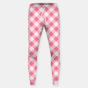 Thumbnail image of Girly Pink Checkered Fashionable Squares Classy Trendy Sweatpants, Live Heroes