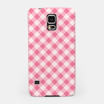 Thumbnail image of Girly Pink Checkered Fashionable Squares Classy Trendy Samsung Case, Live Heroes