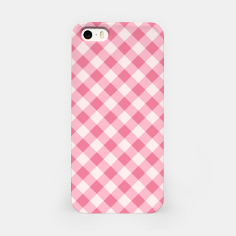 Thumbnail image of Girly Pink Checkered Fashionable Squares Classy Trendy iPhone Case, Live Heroes