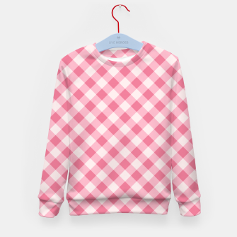 Thumbnail image of Girly Pink Checkered Fashionable Squares Classy Trendy Kid's sweater, Live Heroes