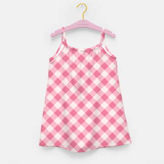 Thumbnail image of Girly Pink Checkered Fashionable Squares Classy Trendy Girl's dress, Live Heroes