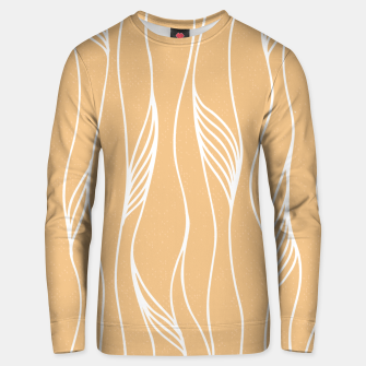 Thumbnail image of Vertical Line Movement White Leaves Feathers Orange Art Unisex sweater, Live Heroes