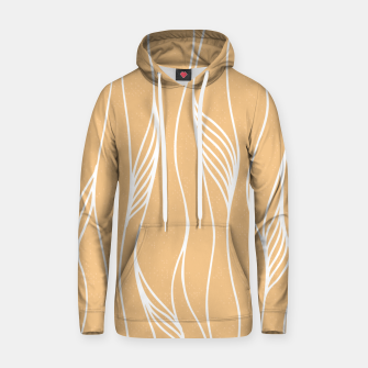 Thumbnail image of Vertical Line Movement White Leaves Feathers Orange Art Hoodie, Live Heroes