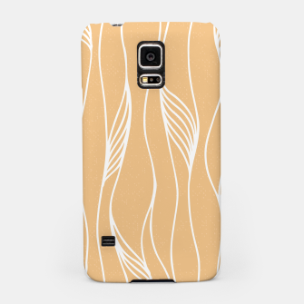 Thumbnail image of Vertical Line Movement White Leaves Feathers Orange Art Samsung Case, Live Heroes