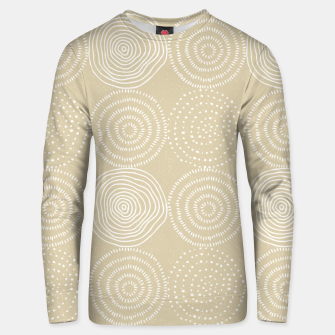 Thumbnail image of White Circles Dots Line Art Spirals Artistic Tribal Unisex sweater, Live Heroes
