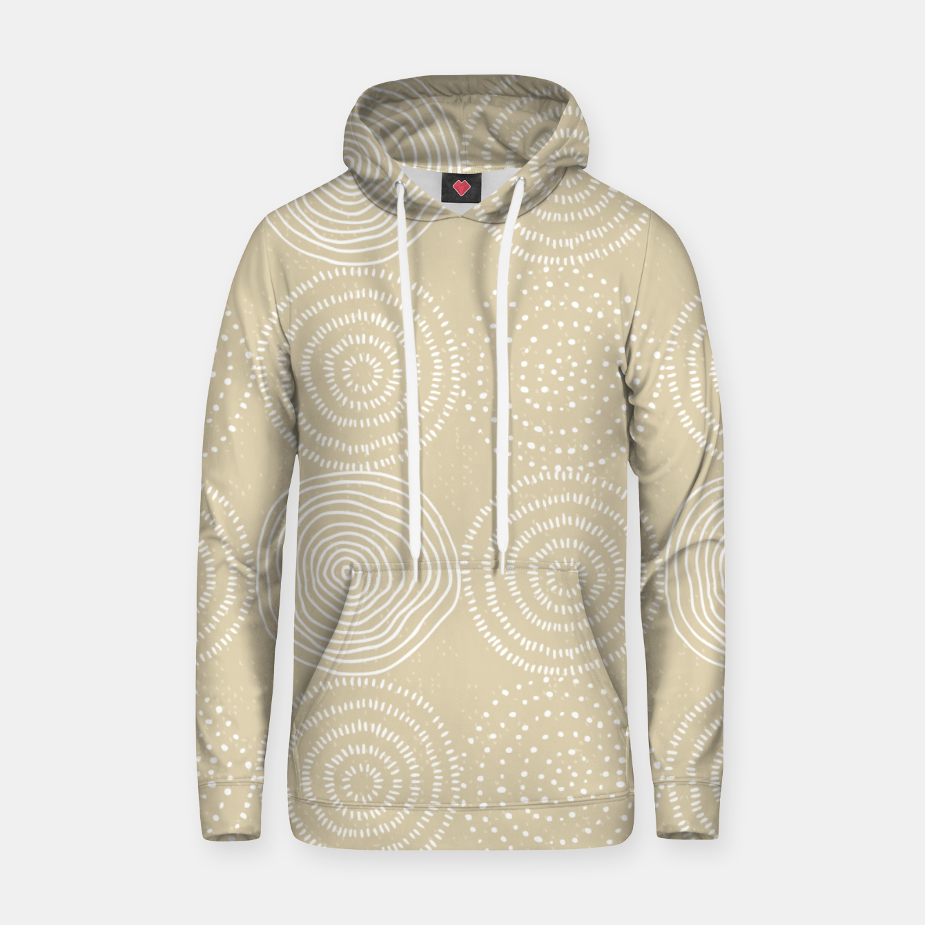 Image of White Circles Dots Line Art Spirals Artistic Tribal Hoodie - Live Heroes