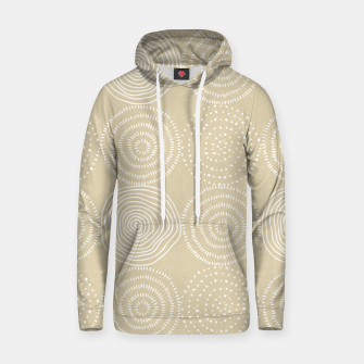 Thumbnail image of White Circles Dots Line Art Spirals Artistic Tribal Hoodie, Live Heroes