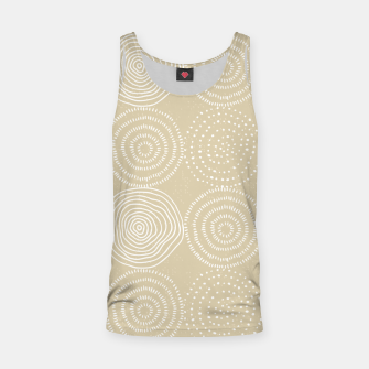 Thumbnail image of White Circles Dots Line Art Spirals Artistic Tribal Tank Top, Live Heroes