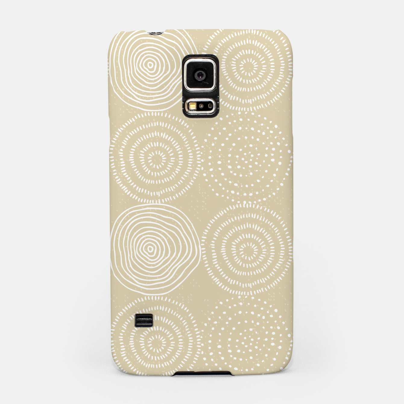 Image of White Circles Dots Line Art Spirals Artistic Tribal Samsung Case - Live Heroes