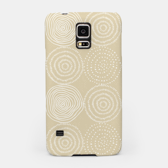 Thumbnail image of White Circles Dots Line Art Spirals Artistic Tribal Samsung Case, Live Heroes