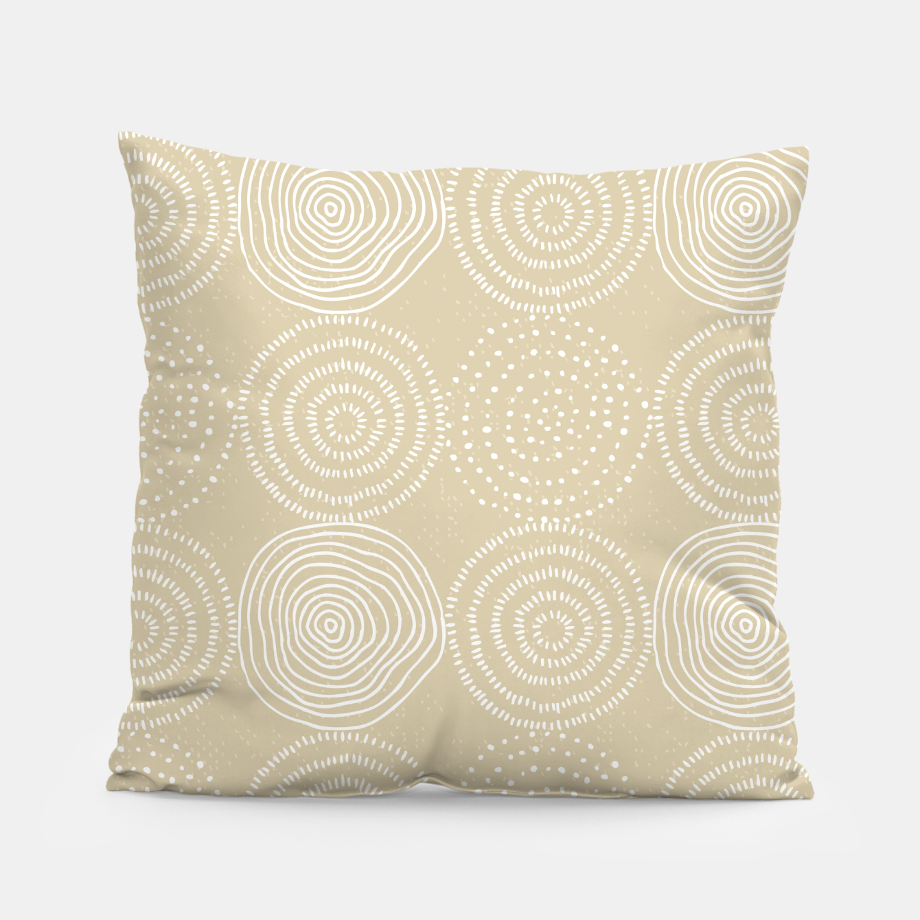 Image of White Circles Dots Line Art Spirals Artistic Tribal Pillow - Live Heroes
