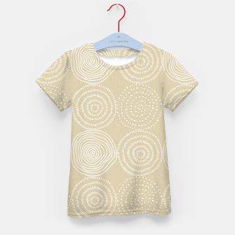 White Circles Dots Line Art Spirals Artistic Tribal Kid's t-shirt thumbnail image