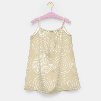 Miniature de image de White Circles Dots Line Art Spirals Artistic Tribal Girl's dress, Live Heroes