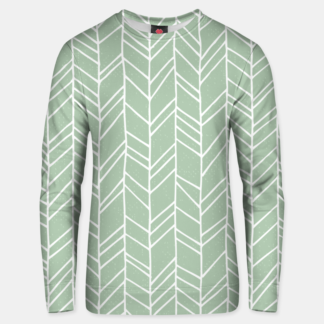 Image of Geometric Abstract Figure Diagonal Vertical Lines Art Unisex sweater - Live Heroes