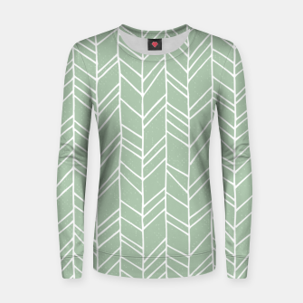 Thumbnail image of Geometric Abstract Figure Diagonal Vertical Lines Art Women sweater, Live Heroes