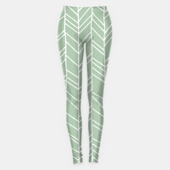 Thumbnail image of Geometric Abstract Figure Diagonal Vertical Lines Art Leggings, Live Heroes