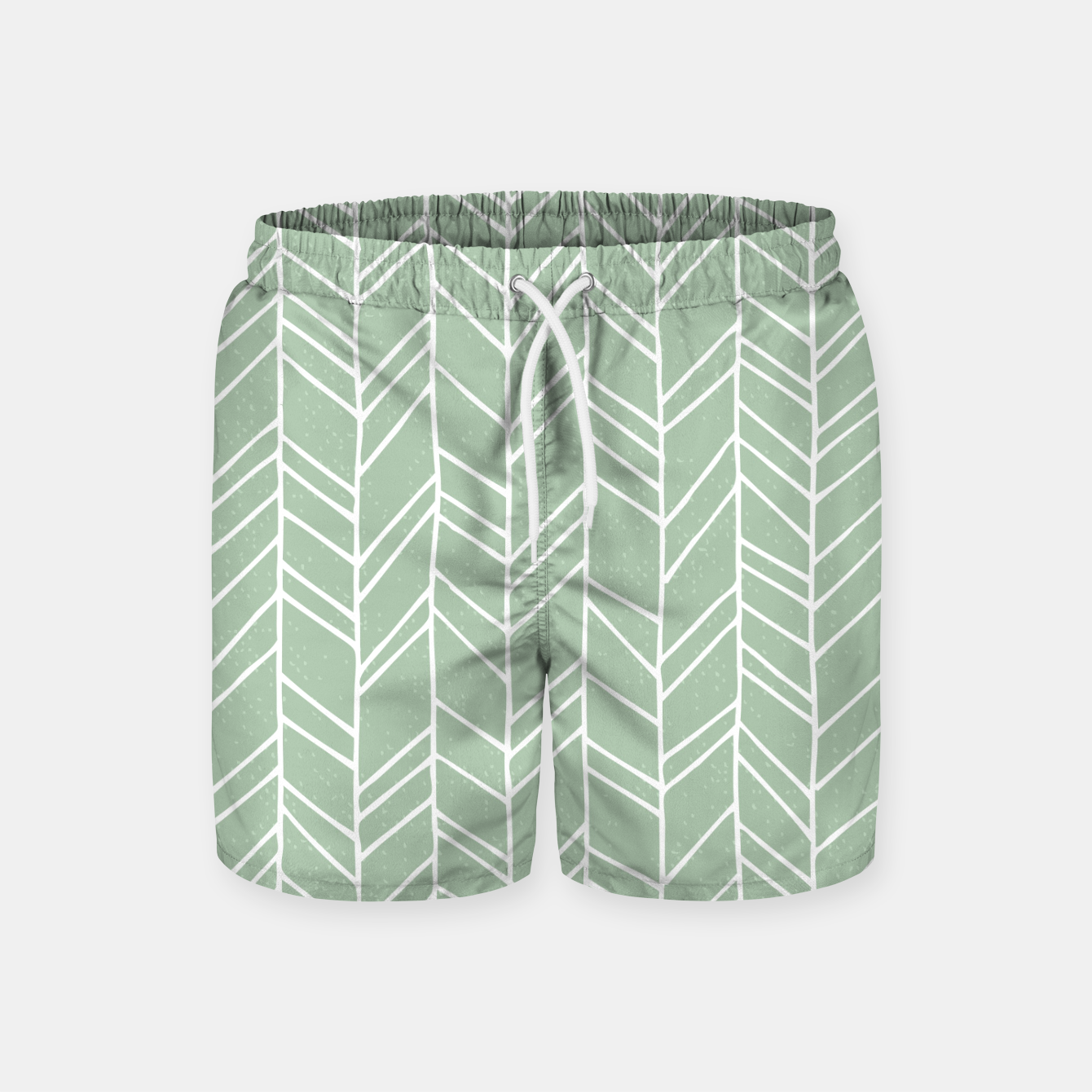 Image of Geometric Abstract Figure Diagonal Vertical Lines Art Swim Shorts - Live Heroes