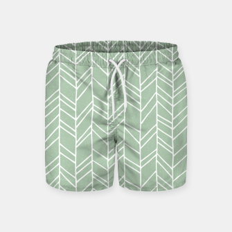 Miniatur Geometric Abstract Figure Diagonal Vertical Lines Art Swim Shorts, Live Heroes