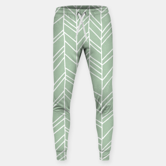 Miniatur Geometric Abstract Figure Diagonal Vertical Lines Art Sweatpants, Live Heroes