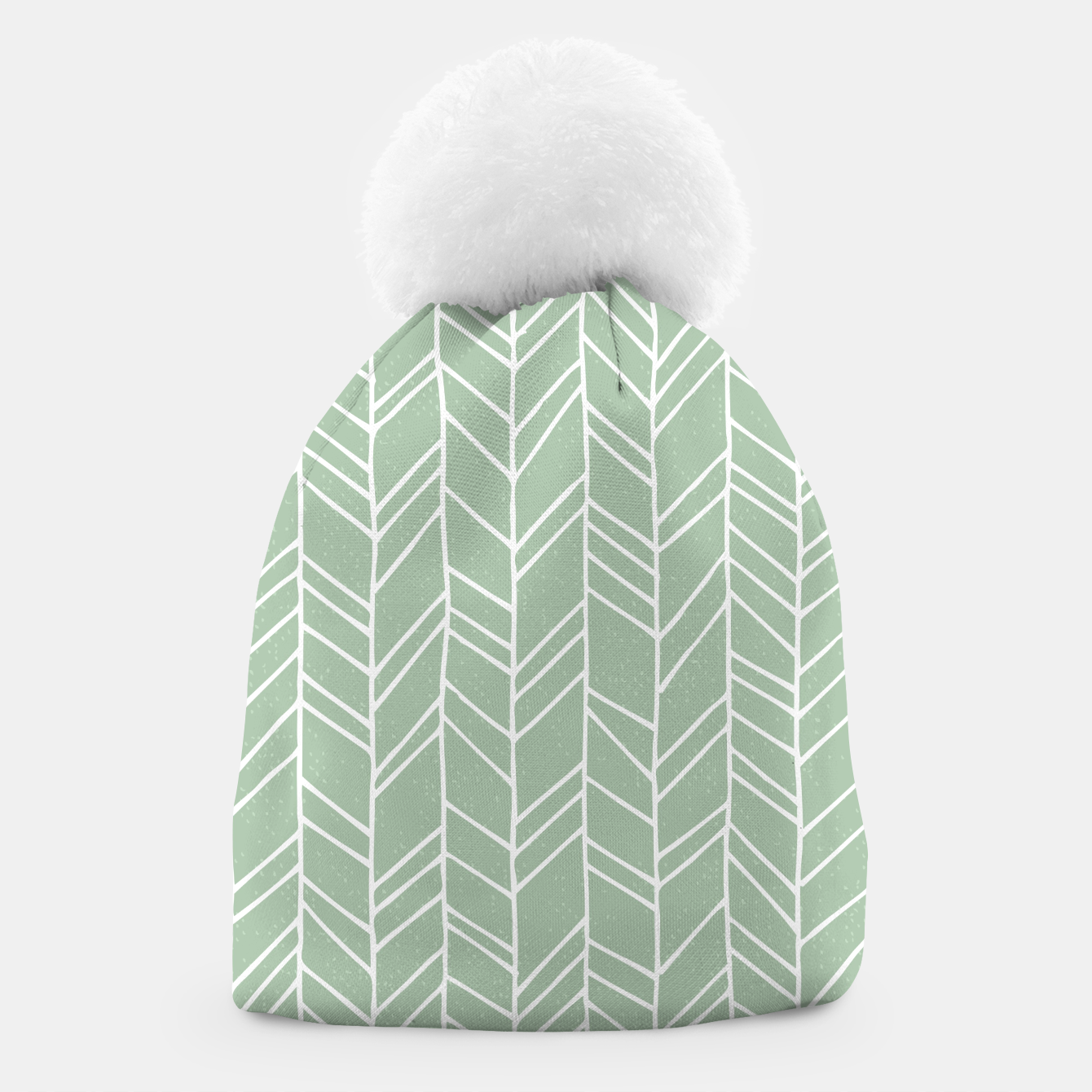 Image of Geometric Abstract Figure Diagonal Vertical Lines Art Beanie - Live Heroes
