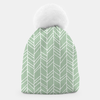 Miniature de image de Geometric Abstract Figure Diagonal Vertical Lines Art Beanie, Live Heroes