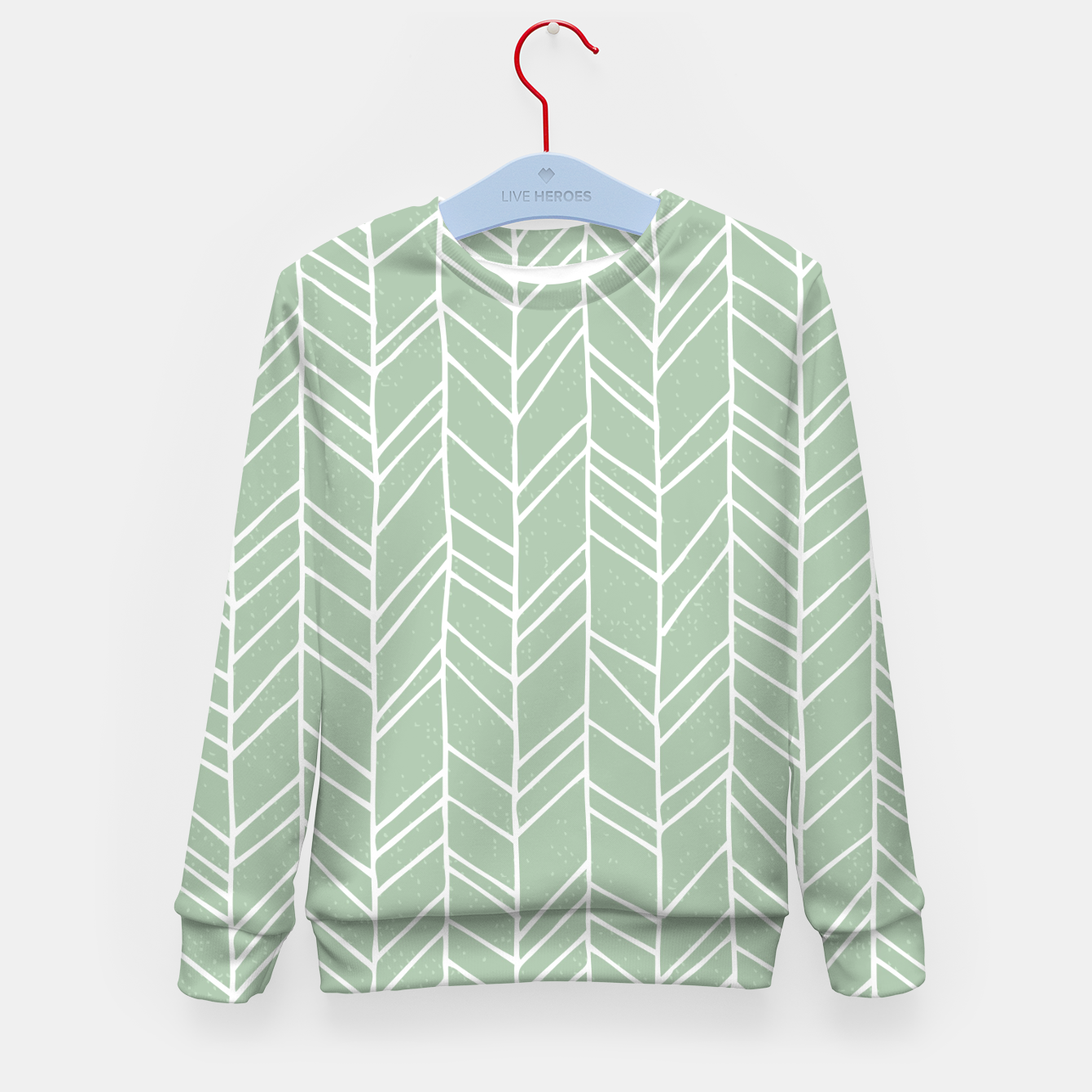 Image of Geometric Abstract Figure Diagonal Vertical Lines Art Kid's sweater - Live Heroes