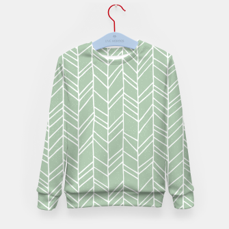 Geometric Abstract Figure Diagonal Vertical Lines Art Kid's sweater thumbnail image