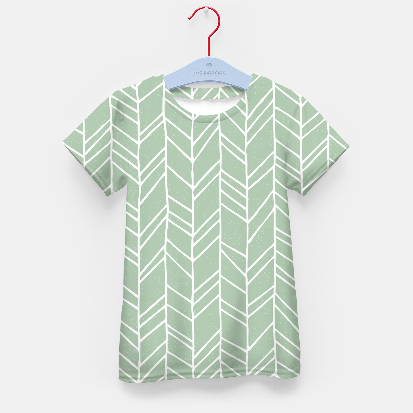 Image of Geometric Abstract Figure Diagonal Vertical Lines Art Kid's t-shirt - Live Heroes