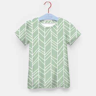 Geometric Abstract Figure Diagonal Vertical Lines Art Kid's t-shirt thumbnail image