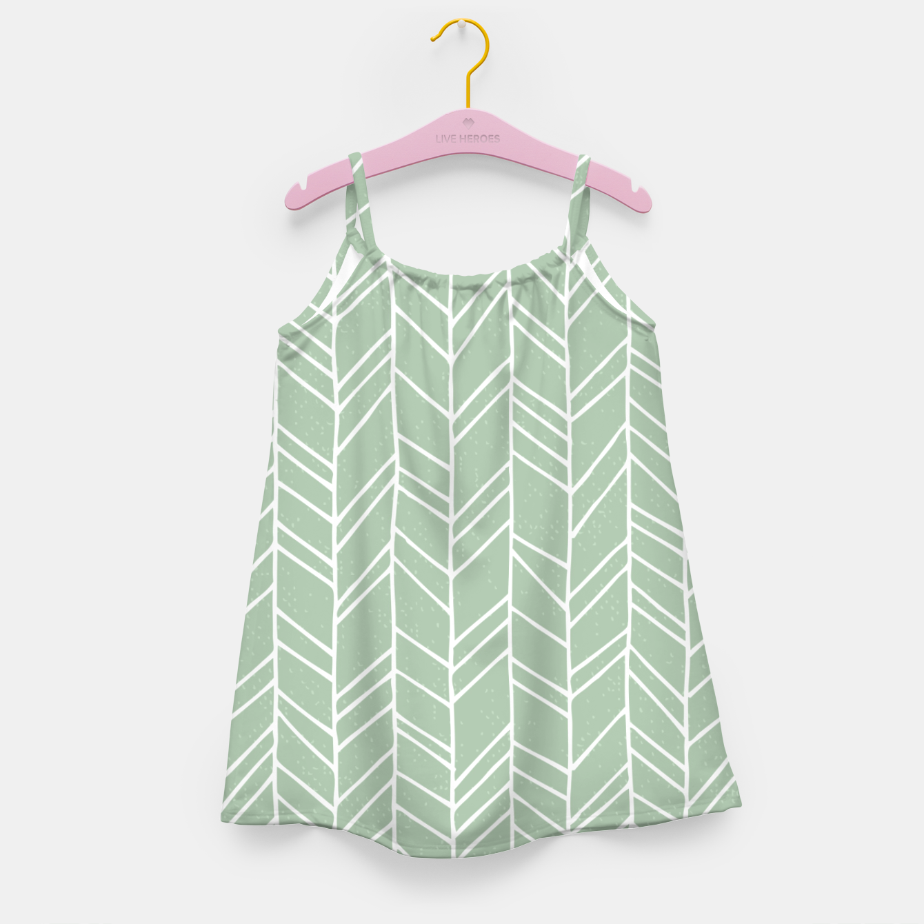 Image of Geometric Abstract Figure Diagonal Vertical Lines Art Girl's dress - Live Heroes