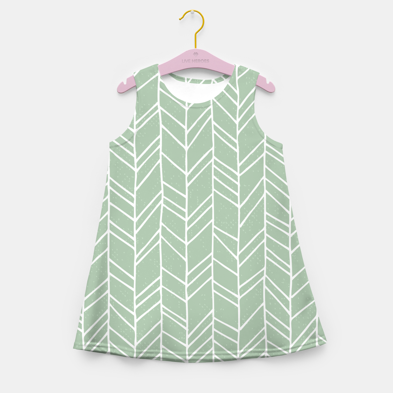 Image of Geometric Abstract Figure Diagonal Vertical Lines Art Girl's summer dress - Live Heroes