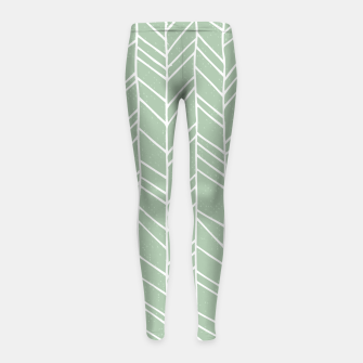 Thumbnail image of Geometric Abstract Figure Diagonal Vertical Lines Art Girl's leggings, Live Heroes