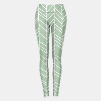Geometric Abstract Figure Diagonal Vertical Lines Art Leggings thumbnail image