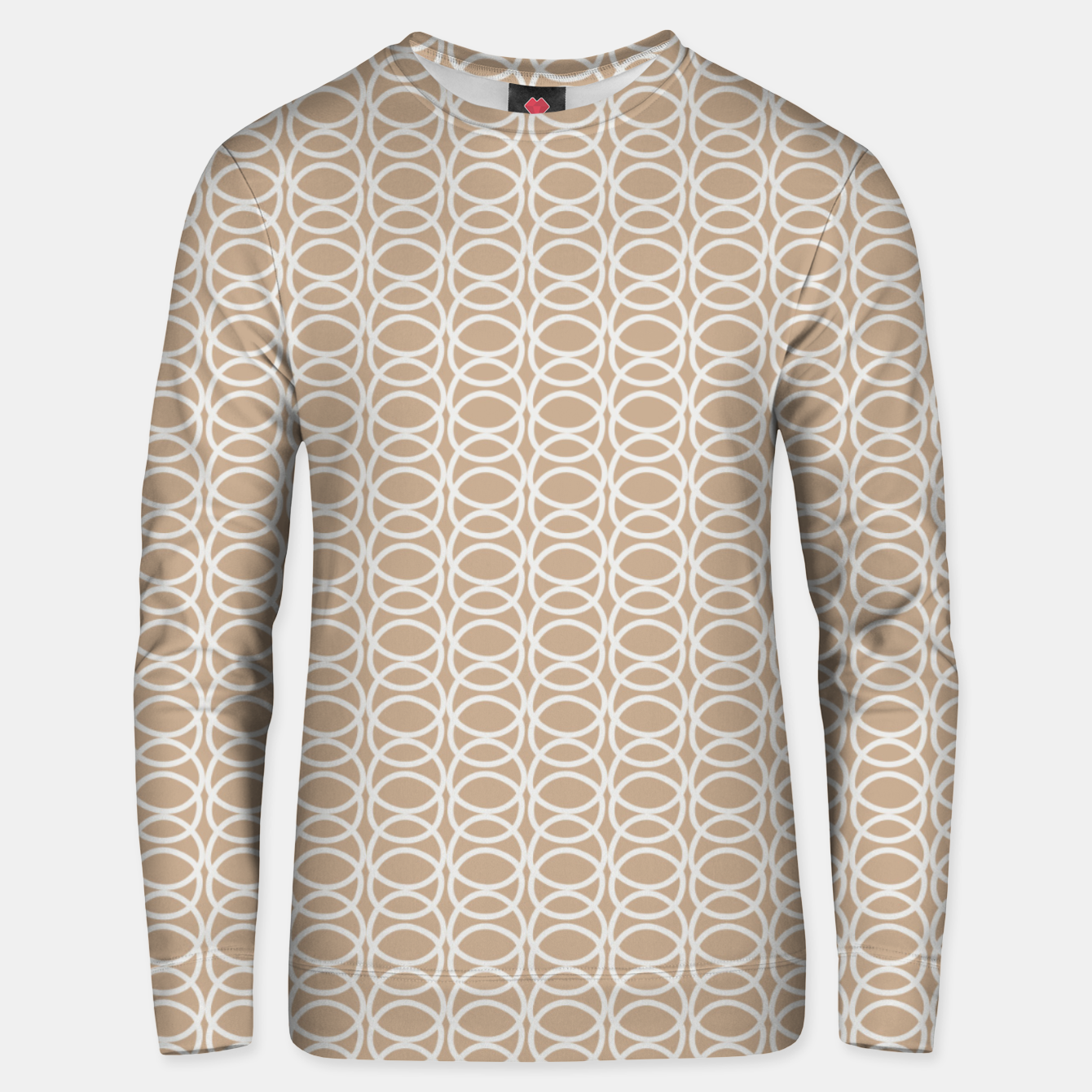 Image of Multiple White Circles Overlap Abstract Art Artist  Unisex sweater - Live Heroes