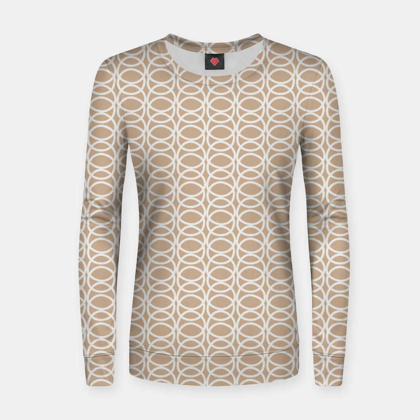 Image of Multiple White Circles Overlap Abstract Art Artist  Women sweater - Live Heroes