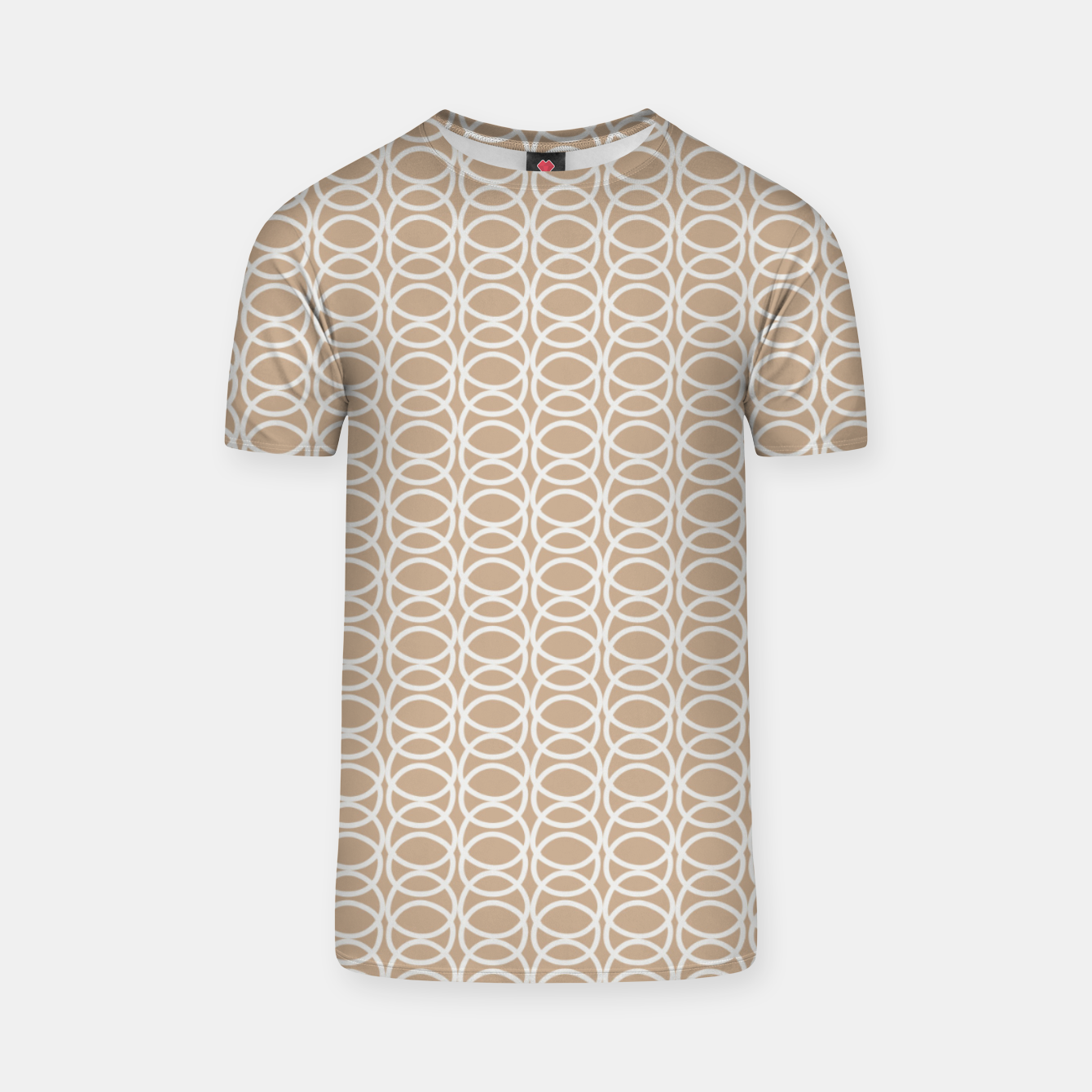 Image of Multiple White Circles Overlap Abstract Art Artist  T-shirt - Live Heroes