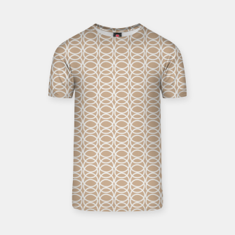 Thumbnail image of Multiple White Circles Overlap Abstract Art Artist  T-shirt, Live Heroes