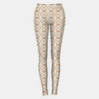 Thumbnail image of Multiple White Circles Overlap Abstract Art Artist  Leggings, Live Heroes