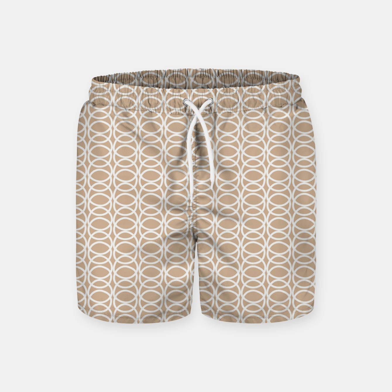 Image of Multiple White Circles Overlap Abstract Art Artist  Swim Shorts - Live Heroes