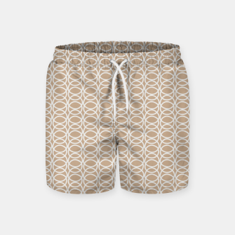 Thumbnail image of Multiple White Circles Overlap Abstract Art Artist  Swim Shorts, Live Heroes