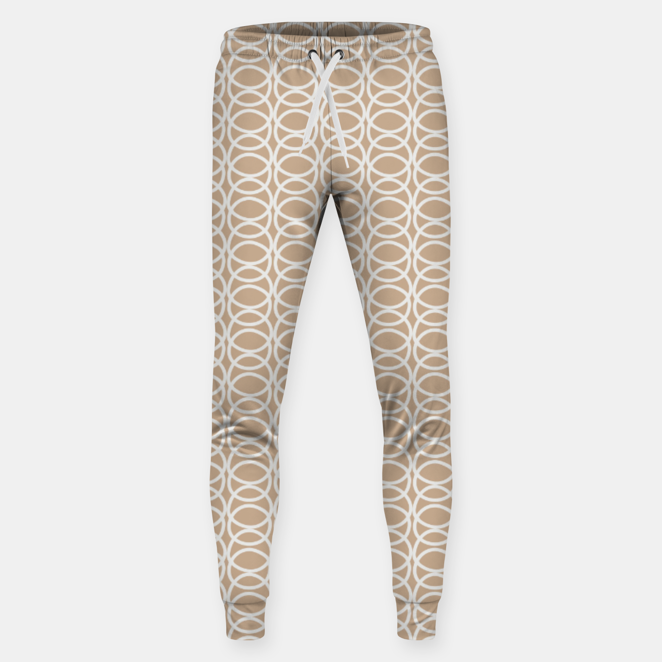 Image of Multiple White Circles Overlap Abstract Art Artist  Sweatpants - Live Heroes