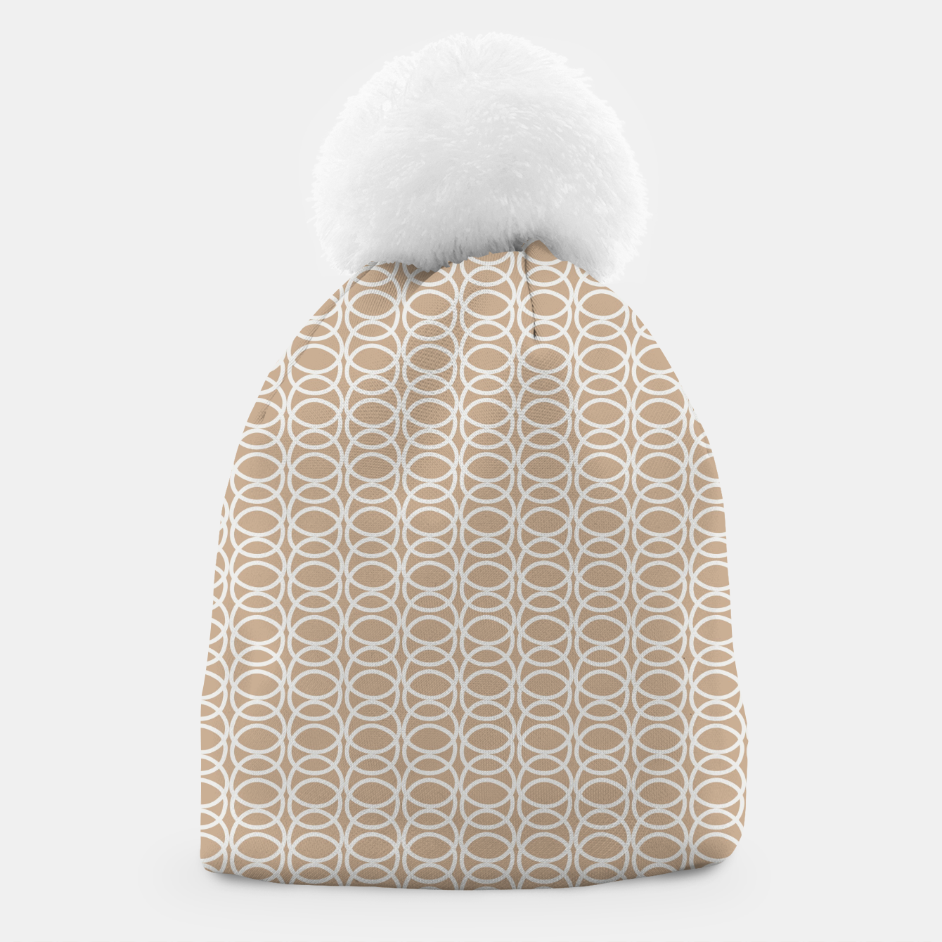 Image of Multiple White Circles Overlap Abstract Art Artist  Beanie - Live Heroes