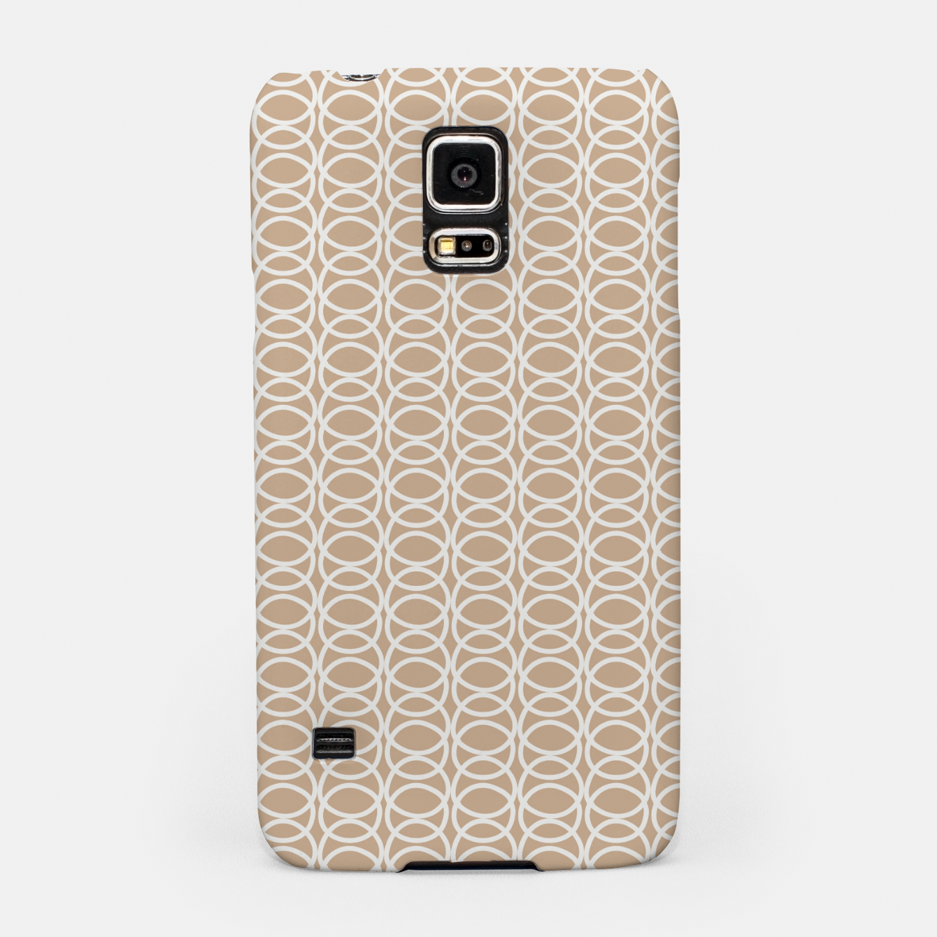 Image of Multiple White Circles Overlap Abstract Art Artist  Samsung Case - Live Heroes