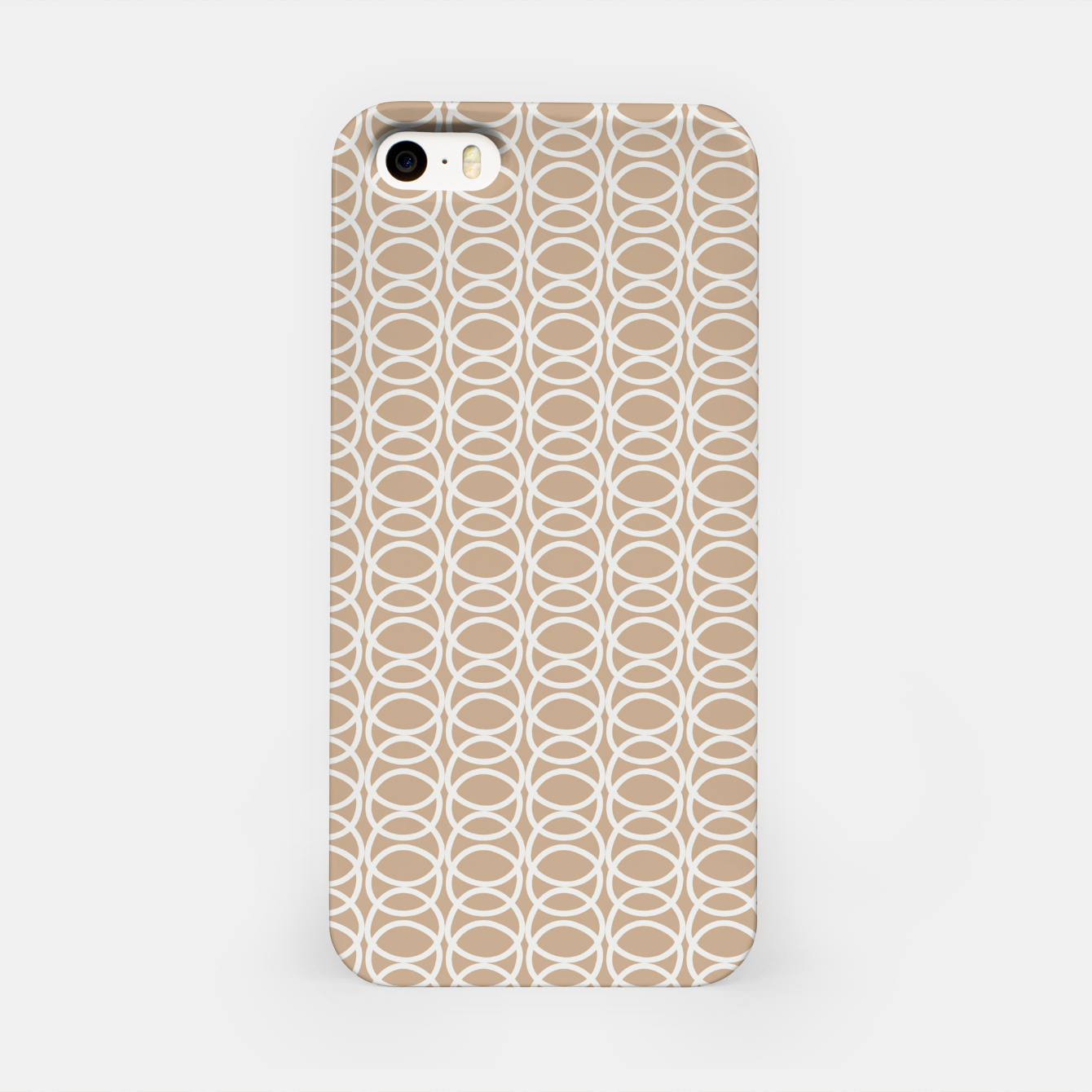 Image of Multiple White Circles Overlap Abstract Art Artist  iPhone Case - Live Heroes