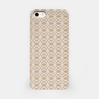 Miniatur Multiple White Circles Overlap Abstract Art Artist  iPhone Case, Live Heroes